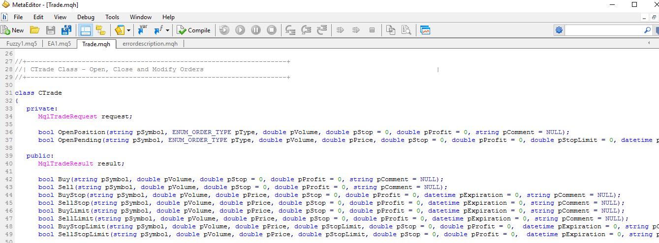 MQL5 Meta Editor